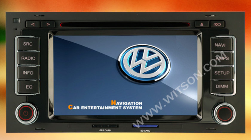 NAVIGATIE DEDICATA VW TOUAREG MULTIVAN TRANSPORTER T5 WITSON W2-D9200V DVD DVR GPS CARKIT BLUETOOTH