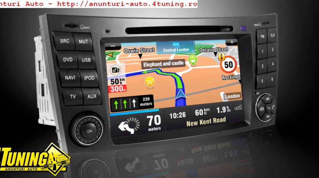 Navigatie Dynavin Dedicata Mercedes Cls W219 Fibra Optica Dvd Gps Carkit Internet 3g Tv