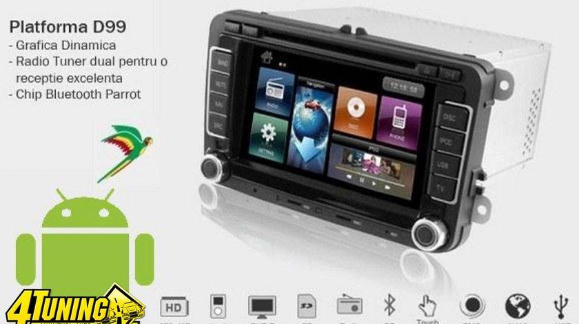 Navigatie Dynavin Dedicata SKODA OCTAVIA 2 Platforma D99+ Android 2 2 Internet 3g Wi Fi Carkit Parrot Dual Radio Tuner Model Premium