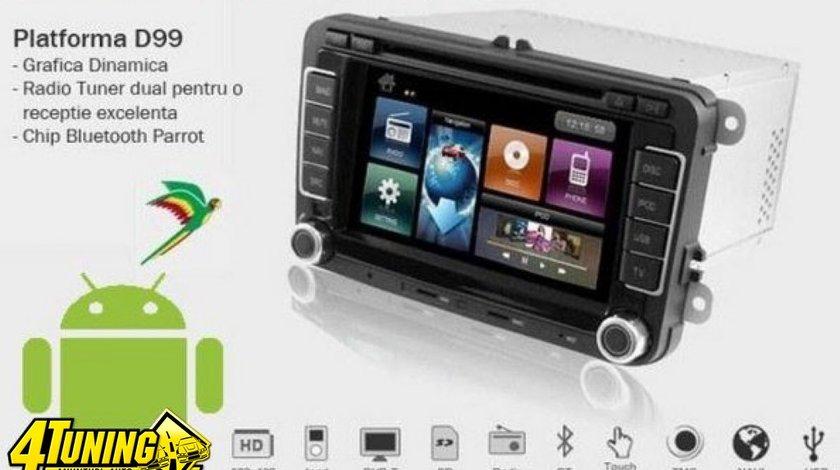 Navigatie Dynavin Dedicata Vw GOLF 6 Platforma D99 Android 2 2 Internet 3g Wi Fi Carkit Parrot Dual Radio Tuner Model Premium