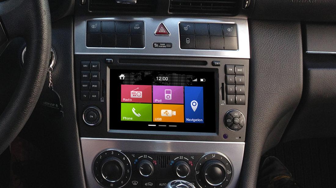 NAVIGATIE DYNAVIN N6-MBC DEDICATA MERCEDES C CLASS W203 2004 - 2008 DVD GPS CAR KIT USB DUAL RADIO