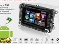 Navigatie Dynavin Skoda SUPERB 2 Platforma D99 Android 2 2 Internet 3g Wi Fi Carkit Parrot Dual Radio Tuner Model Premium