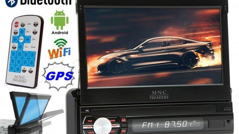 "Navigatie GPS 1DIN Ecran Retractabil 7"" Wi-Fi M.N.C Premiere 39719, 4x45W, , USB, Aux, SD, Bluetooth"