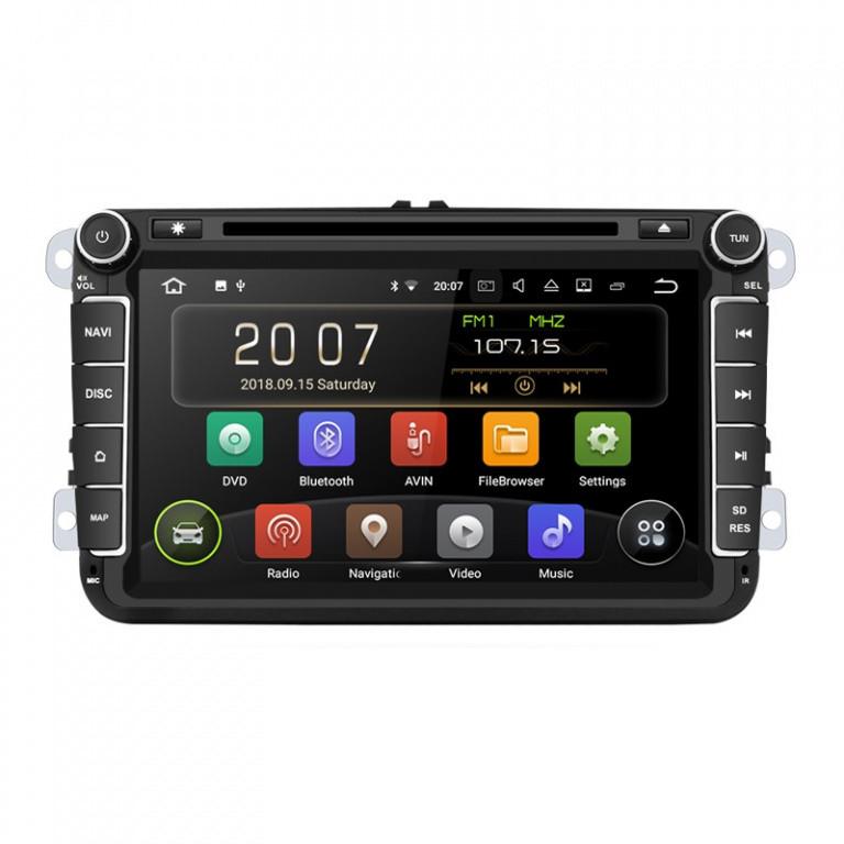 Navigatie Gps 8 inch Skoda Octavia 2 Fabia Superb 2 Roomster Yeti , Android 9.0 , 2 GB RAM + 16 GB ROM, Internet , 4G , Aplicatii , Waze , Wi Fi , Usb , Bluetooth , Mirrorlink