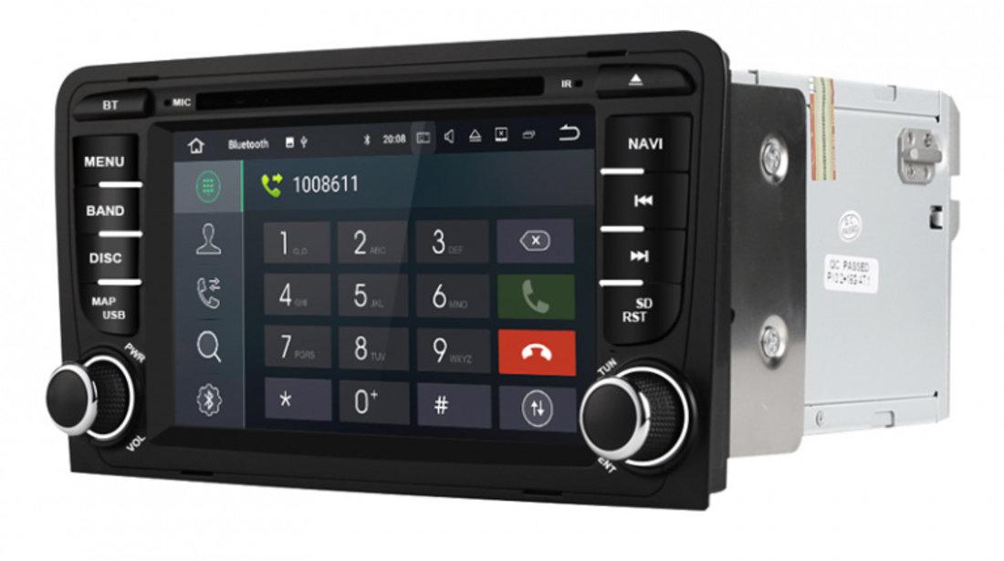 Navigatie Gps Android 9.0 Audi A3 S3 ( 2002 - 2013 ) , 2GB RAM +16GB ROM, Internet , 4G , Aplicatii , Waze , Wi Fi , Usb , Bluetooth , Mirrorlink