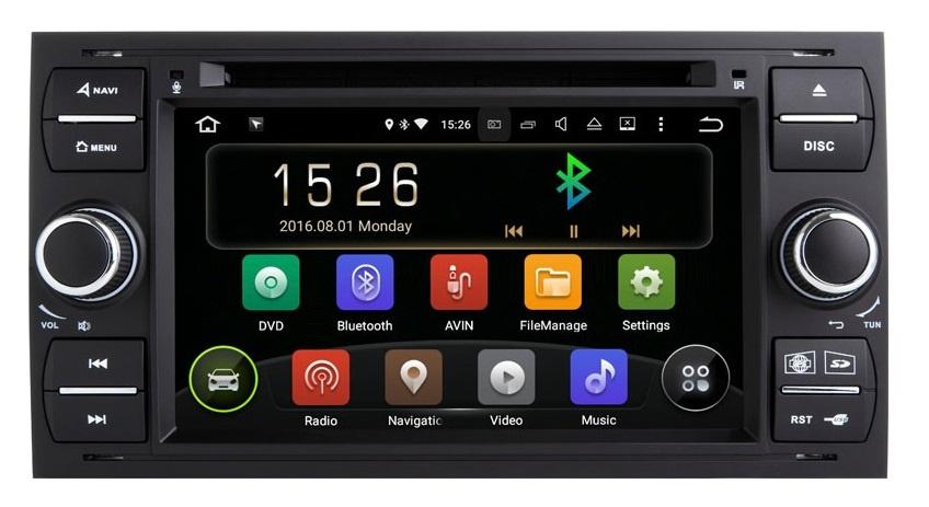 Navigatie Gps Android 9.0 Ford Focus Mondeo Fiesta Kuga Transit , 2GB RAM +16GB ROM , Internet , 4G , Aplicatii , Waze , Wi Fi , Usb , Bluetooth , Mirrorlink