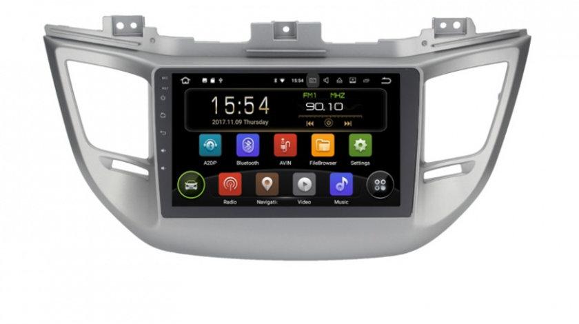 Navigatie Gps Android 9.0 Hyundai ix35 Tucson ( 2014 - 2018 ) , 2GB RAM +16 GB ROM , Internet , 4G , Aplicatii , Waze , Wi Fi , Usb , Bluetooth , Mirrorlink