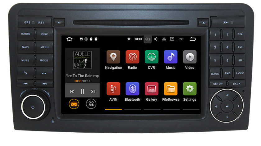 Navigatie Gps Android 9.0 Mercedes ML W164 , GL X164 ( 2005 - 2012) , 2GB RAM + 16GB ROM , Internet , 4G , Aplicatii , Waze , Wi Fi , Usb , Bluetooth , Mirrorlink