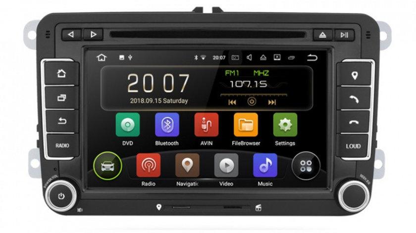 Navigatie Gps Android 9.0 Seat Leon Altea Toledo Alhambra , 2GB RAM + 16GB ROM , Internet , 4G , Aplicatii , Waze , Wi Fi , Usb , Bluetooth , Mirrorlink