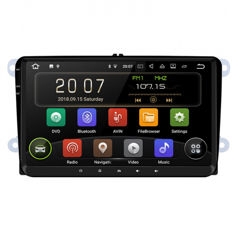 Navigatie Gps Android 9.0 VW Golf 5 6 Passat B6 B7 CC Tiguan Touran Jetta Eos Polo Sharan Amarok Caddy , Internet , 4G , Aplicatii , Waze , Wi Fi , Usb , Bluetooth , Mirrorlink