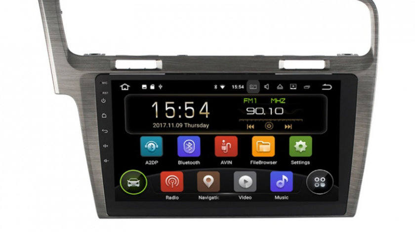 "Navigatie Gps Android 9.0 VW Golf 7 , 2 GB RAM + 16 GB ROM , Display 10.1 "" , Internet , 4G , Aplicatii , Waze , Wi Fi , Usb , Bluetooth , Mirrorlink"