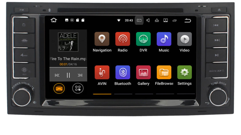 Navigatie Gps Android 9.0 VW Touareg Multivan , 2GB RAM + 16 GB ROM , Internet , 4G , Aplicatii , Waze , Wi Fi , Usb , Bluetooth , Mirrorlink