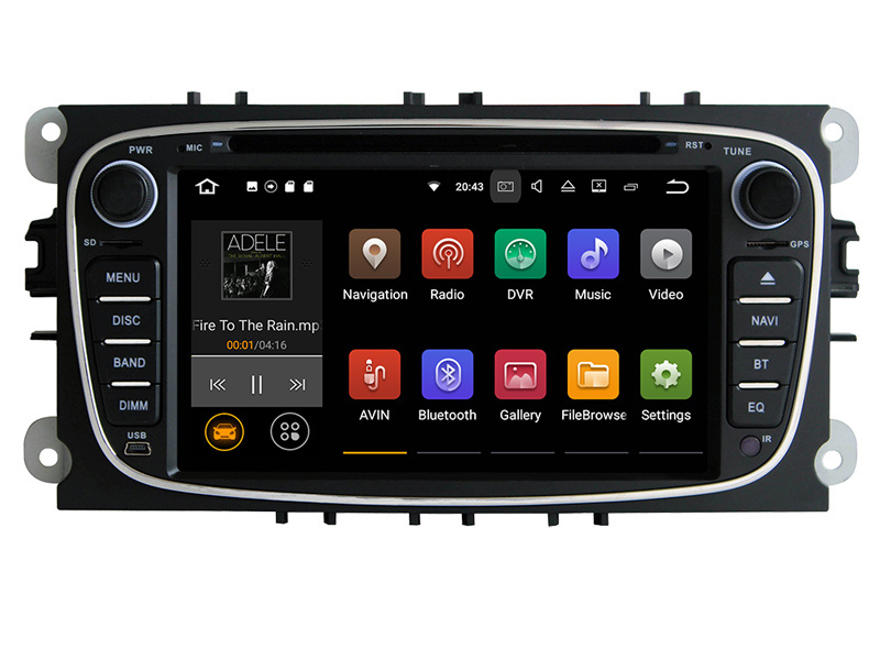 Navigatie Gps Android Ford Mondeo Focus S Max Transit Tourneo , 2GB RAM +16GB ROM, Internet , 4G , Aplicatii , Waze , Wi Fi , Usb , Bluetooth , Mirrorlink
