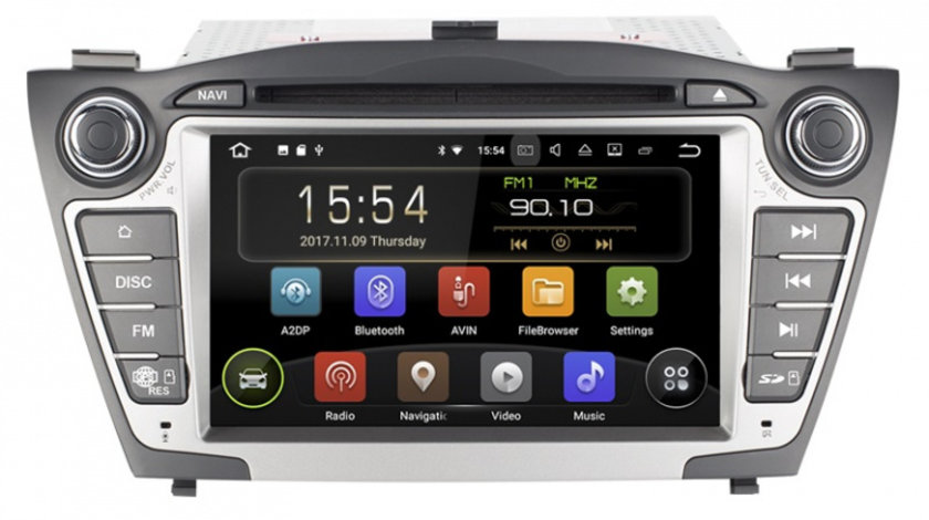 Navigatie Gps Android Hyundai Tucson ix 35 ( 2009 - 2015 ) , 2GB RAM + 16 GB ROM , Internet , 4G , Aplicatii , Waze , Wi Fi , Usb , Bluetooth , Mirrorlink