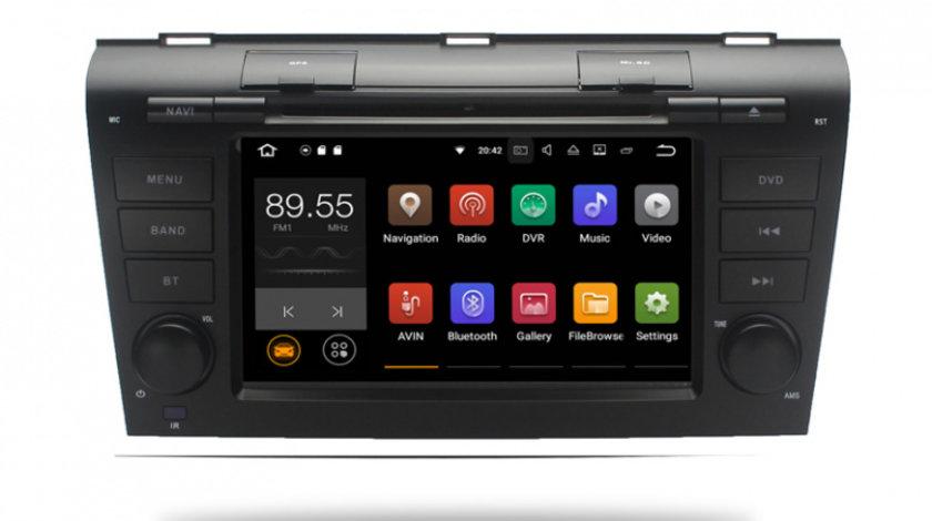 Navigatie Gps Android Mazda 3 (2004 - 2009) , 2GB RAM + 16GB ROM , Internet , 3G , Youtube , Waze , Wi Fi , Usb , Bluetooth , Mirrorlink