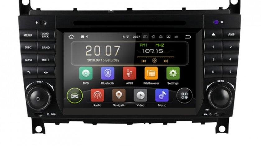 Navigatie Gps Android Mercedes C Class W203 , CLK W209 , Android , 2GB RAM + 16GB ROM , Internet , 4G , Aplicatii , Waze , Wi Fi , Usb , Bluetooth , Mirrorlink