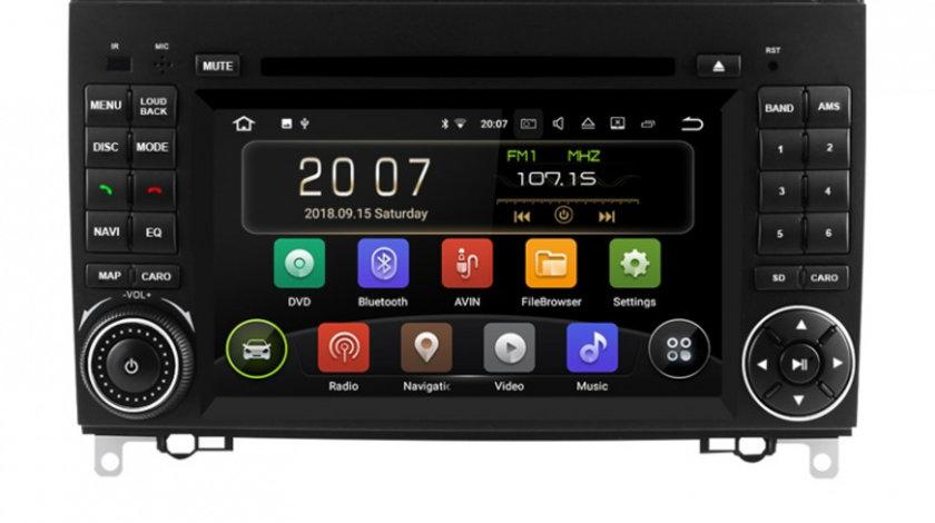 Navigatie Gps Android Mercedes Vito Sprinter Viano B200 A B Class VW Crafter , Android 9.0 , 2GB RAM + 16GB ROM , Internet , 4G , Aplicatii , Waze , Wi Fi , Usb , Bluetooth , Mirrorlink