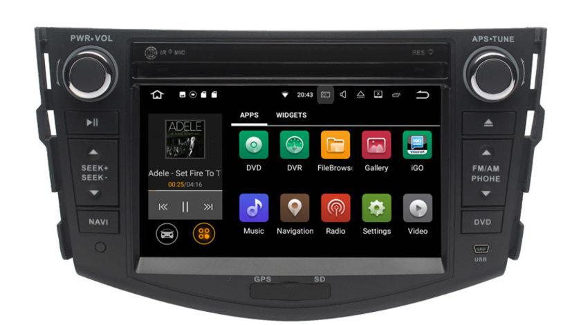 Navigatie Gps Android Toyota Rav 4 ( 2006 - 2011) , 2GB RAM + 16GB ROM , Internet , 4G , Aplicatii , Waze , Wi Fi , Usb , Bluetooth , Mirrorlink