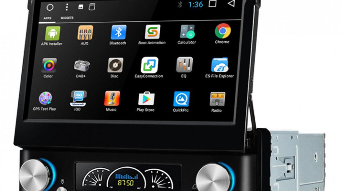 Navigatie Gps Auto Android 1DIN cu ecran retractabil , 7 inch , 2GB RAM + 16 GB ROM , Internet , 4G , Aplicatii , Waze , Wi Fi , Usb , Bluetooth , Mirrorlink