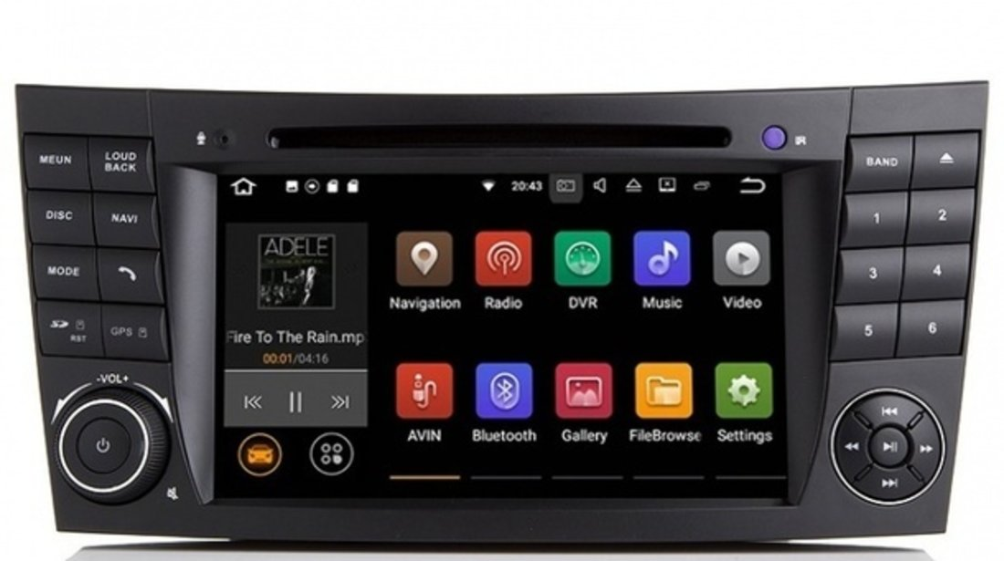 Navigatie GPS Mercedes E-CLASS W211 INTERNET Waze NAVD-A090 Android 7.1