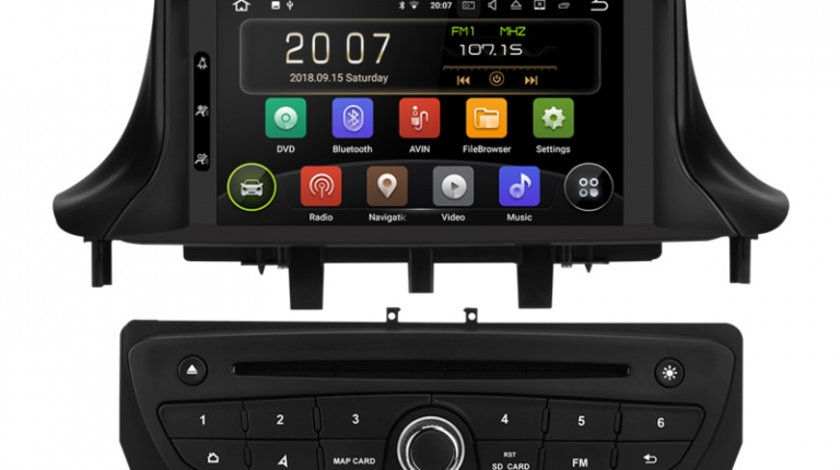 Navigatie Gps Renault Megane 3 Fluence ( 2009 -2015 ) , Android 9.0 , 2GB RAM + 16GB ROM , Internet , 4G , Aplicatii , Waze , Wi Fi , Usb , Bluetooth , Mirrorlink
