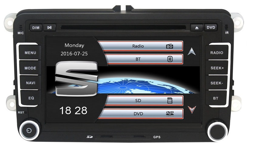 Navigatie Gps Seat Leon Altea Toledo Alhambra , Windows 6.0 , Dvd Player , Usb , Bluetooth , Card 8GB Europa full