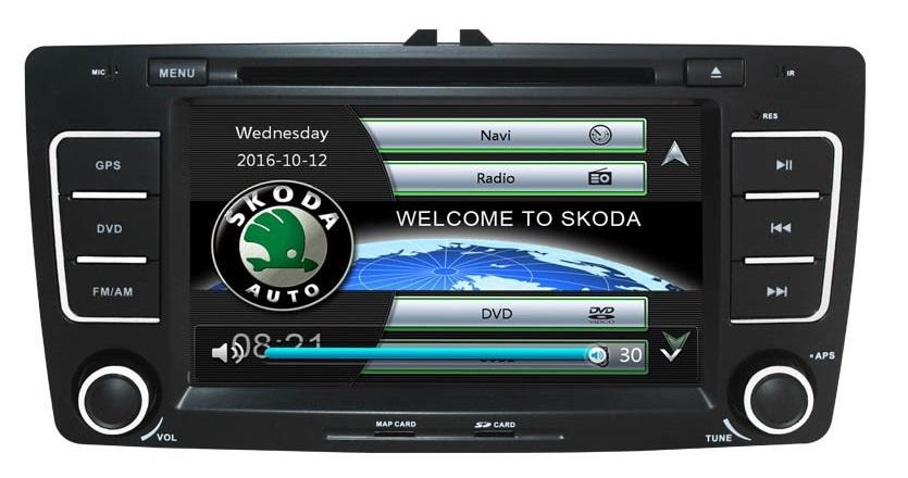 Navigatie Gps Skoda Octavia 2 ( 2009-2013 ) , Windows 6.0 , Dvd Player , Usb , Bluetooth , Card 8GB Europa full