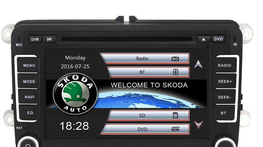 Navigatie Gps Skoda Octavia 2 Fabia Superb 2 Roomster Yeti , Windows 6.0 , Dvd Player , Usb , Bluetooth , Card 8GB Europa full