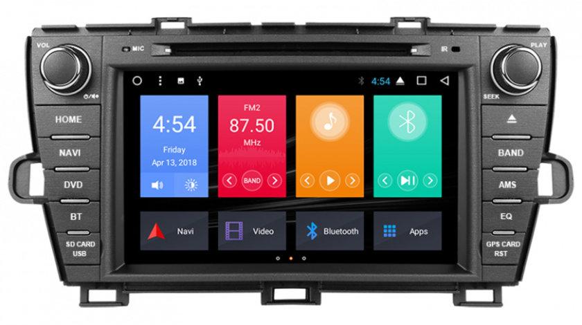 Navigatie Gps Toyota Prius ( 2009 - 2013 ) , Android , 2GB RAM + 16GB ROM , Internet , 4G , Aplicatii , Waze , Wi Fi , Usb , Bluetooth , Mirrorlink