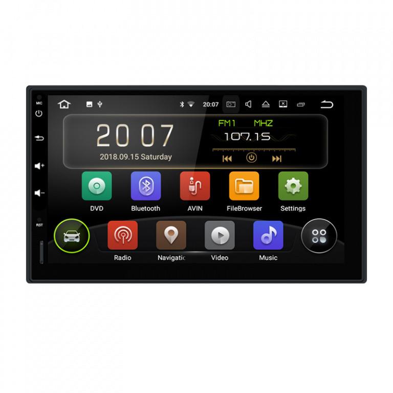 Navigatie Gps Universala 2DIN Android 9.0 , 2GB RAM + 16GB ROM , Internet , 4G , Aplicatii , Waze , Wi Fi , Usb , Bluetooth , Mirrorlink