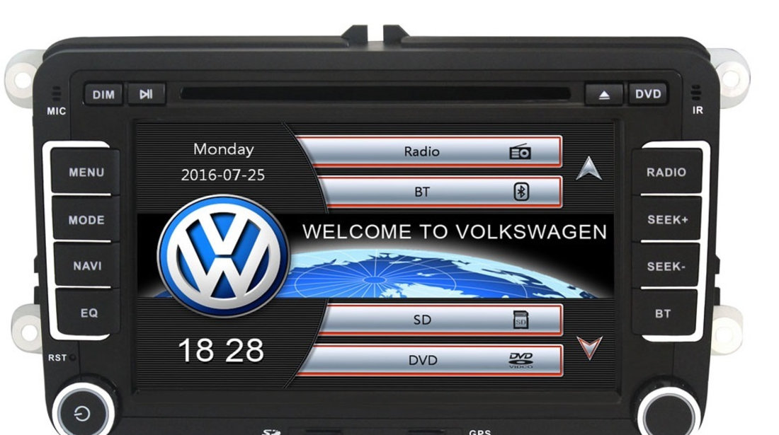 Navigatie Gps VW Golf 5 6 Passat B6 B7 CC Tiguan Touran Jetta Eos Polo Sharan Amarok Caddy , Windows 6.0 , Dvd Player , Usb , Bluetooth , Card 8GB Europa full