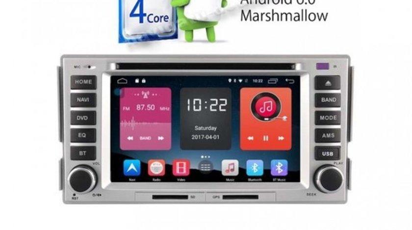 Navigatie Hyundai Santa Fe GPS CARKIT IPOD TV ECRAN CAPACITIV MIRRORLINK CARKIT USB NAVD-A008