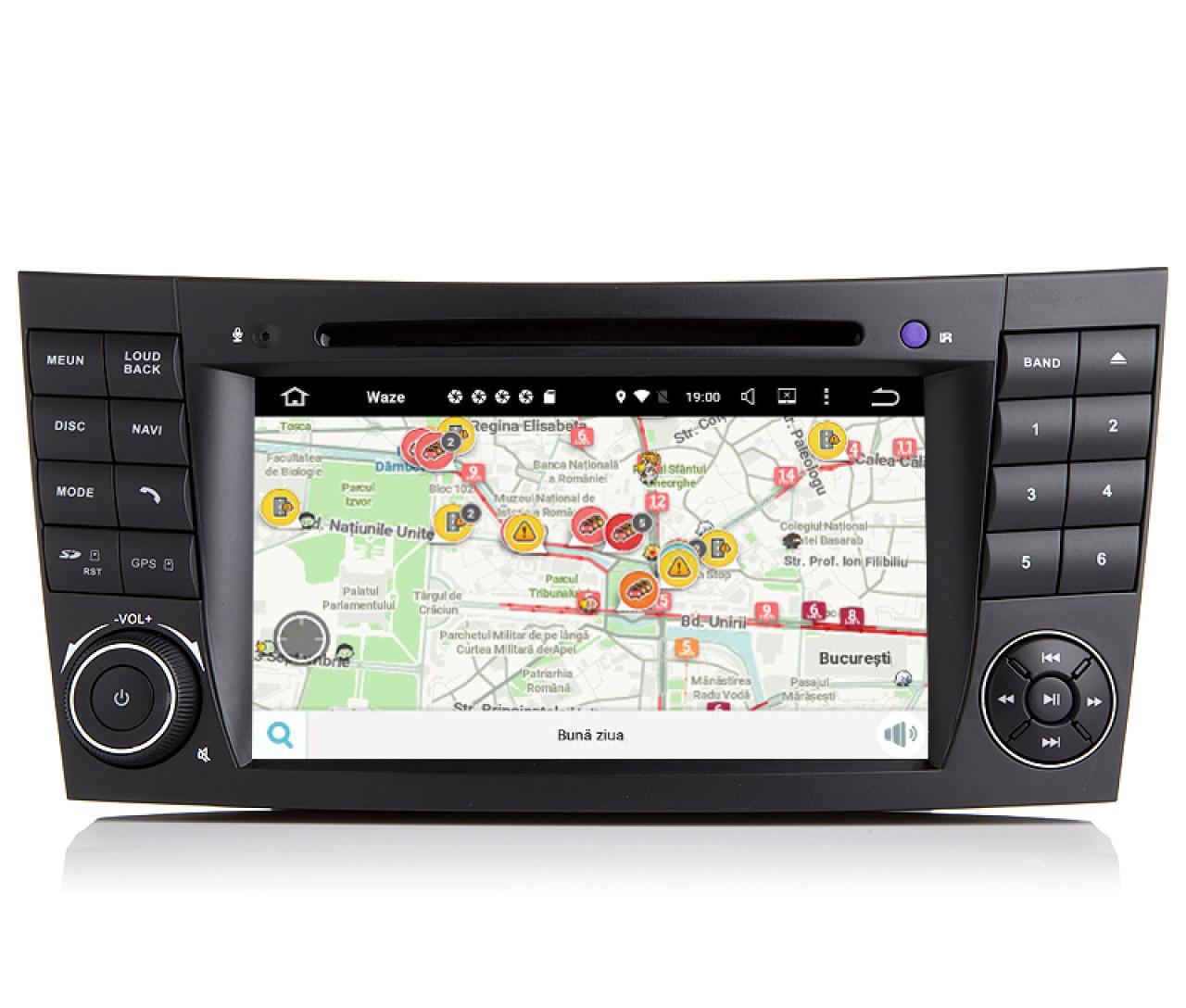 Navigatie Mercedes Clasa E W211 E Class Android 9.0 Internet Waze NAVD-MT090