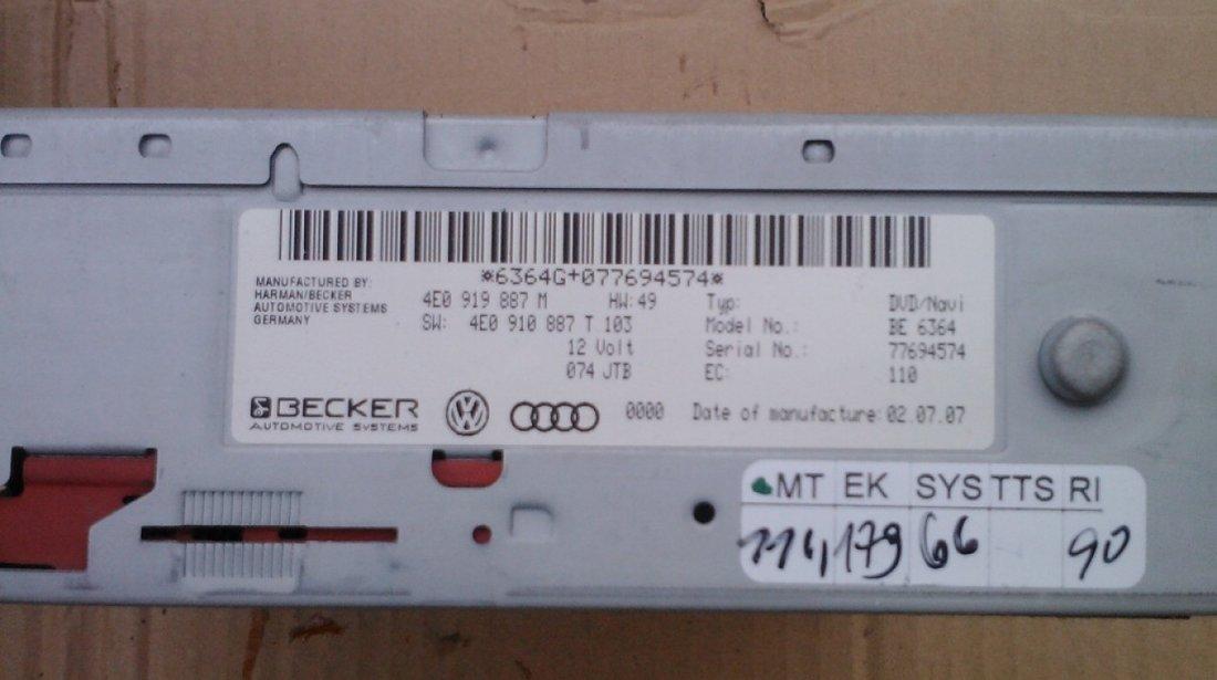 Navigatie Mmi 2g Cod 4e0919887t 4e0919887m Audi A6 4f