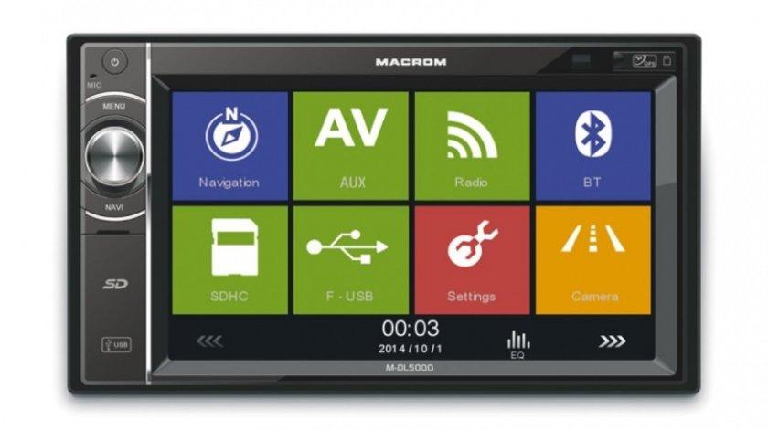 NAVIGATIE MULTIMEDIA MACROM M-DL5000 2DIN USB SD PLAYER GPS CARKIT