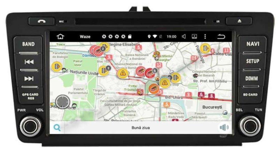 "Navigatie Skoda Octavia 2 Facelift Android 9.0 2GB Ecran IPS 8"" GPS NAVD-A9725 Nu necesita rama"