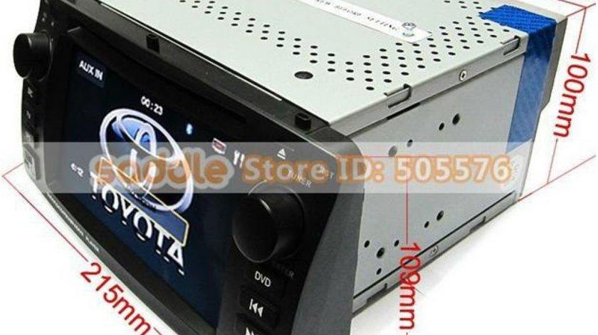 Navigatie TOYOTA COROLLA E 120 2002-2006 Dvd Gps Tv Car Kit Usb Ipod Bluetooth