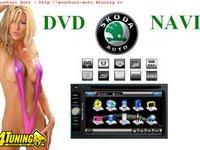 NAVIGATIE TTI 6903 DEDICATA SKODA OCTAVIA 1 TOUR SUPERB FABIA DVD GPS CAR KIT USB PANOU DETASABIL ANTIFURT