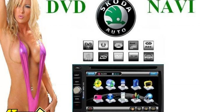 Navigatie TTI-6903 Dedicata Skoda Octavia 1 TOUR SUPERB Dvd Gps Car Kit Usb Panou Detasabil