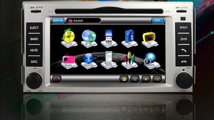 Navigatie Tti 8908i Dedicata HYUNDAI SANTA FE INTERNET 3G WI FI Dvd Gps Tv Car Kit