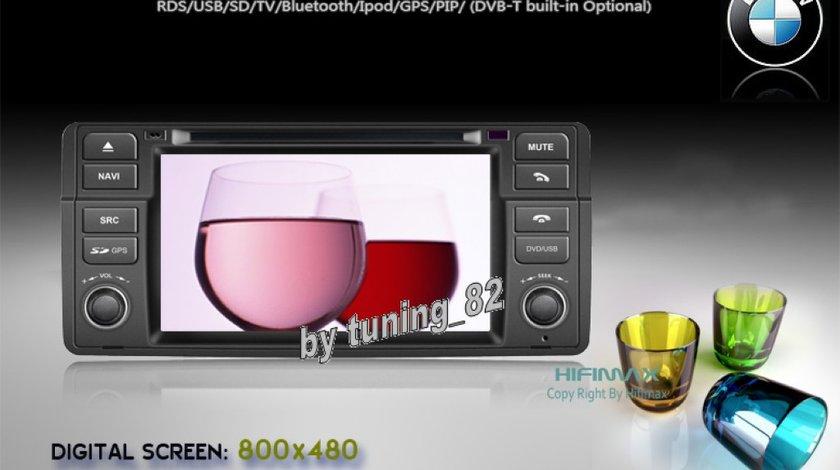 Navigatie TTi-8952i Dedicata Bmw Seria 3 E46 OLD(1998-2001) Internet 3g Wifi Gps Dvd Tv Carkit Butoane Cauciucate Oem Picture In Picture Model 2012