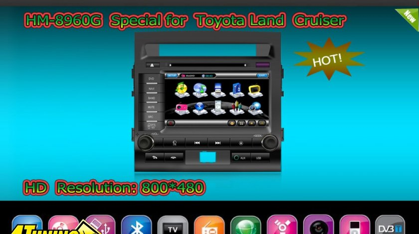 NAVIGATIE TTI 8960 DEDICATA TOYOTA LAND CRUISER INTERNET 3G WIFI GPS TV DVD CARKIT PIP MODEL 2012
