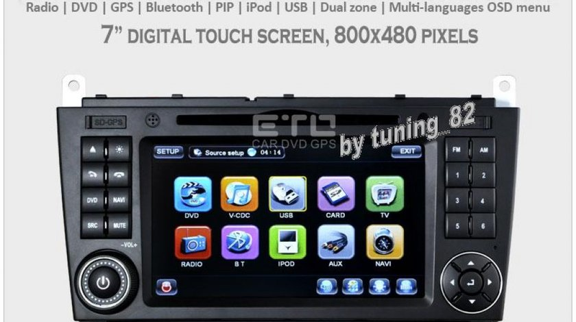 Navigatie Tti 8993i Dedicata Mercedes Benz CLK 2499 Lei Internet 3g Wifi Dvd Gps Carkit Tv Comenzi Pe Volan Model 2013