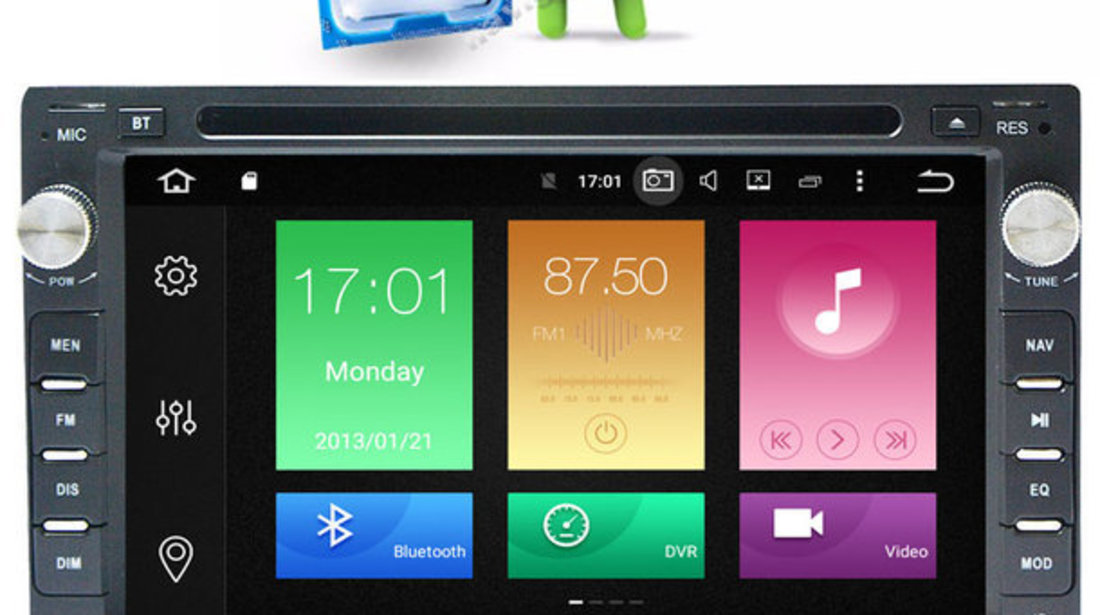 NAVIGATIE Vw GOLF 4 Android 6.0 Octa Core 2 GB RAM NAVD-P9245