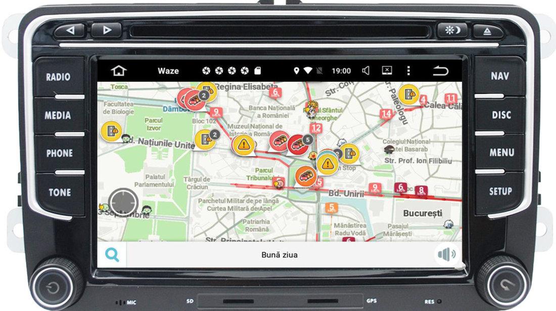NAVIGATIE VW Golf 5 Golf 6 Passat B6 B7 CC Jetta Tiguan Touran Sharan Polo Android 9.0 NAVD-P3700