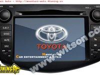 NAVIGATIE WITSON W2 C018 DEDICATA TOYOTA RAV4 PLATFORMA S100 PROCESOR DUAL CORE A8 1GHZ 512 DDR 2 DVD GPS TV DVR CARKIT PRELUARE AGENDA TELEFONICA