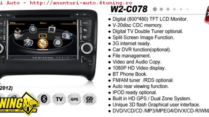 NAVIGATIE WITSON W2 C078 DEDICATA AUDI TT PLATFORMA S100 PROCESOR DUAL CORE A8 1GHZ 512 DDR DVD GPS TV DVR CARKIT PRELUARE AGENDA TELEFONICA