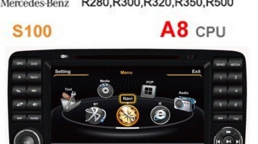 NAVIGATIE WITSON W2-C215 DEDICATA MERCEDES R CLASS W251 PLATFORMA S100 PROCESOR A8 1GHZ INTERNET 3G WIFI DVD GPS TV DVR CARKIT PRELUARE AGENDA TELEFONICA MODEL PREMIUM
