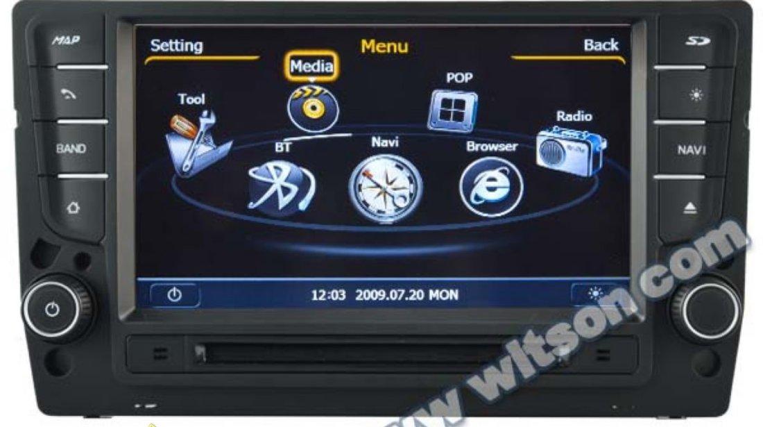 NAVIGATIE WITSON W2 C257 DEDICATA VOLKSWAGEN GOLF 7 PLATFORMA S100 PROCESOR DUAL CORE A8 1GHZ 512 DDR 2 INTERNET 3G WIFI DVD GPS TV DVR CARKIT PRELUARE AGENDA TELEFONICA