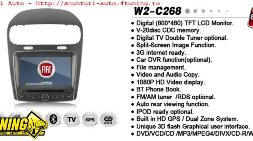 NAVIGATIE WITSON W2 C268 DEDICATA FIAT FREEMONT DODGE JOURNEY PLATFORMA S100 PROCESOR DUAL CORE A8 1GHZ 512 DDR 2 DVD GPS TV DVR CARKIT PRELUARE AGENDA TELEFONICA